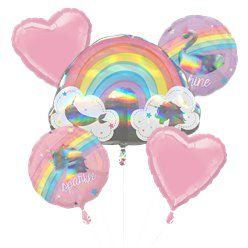 Magical Rainbow Helium Balloon Bouquet